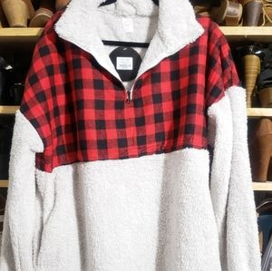 Sherpa Buffalo plaid sweater
